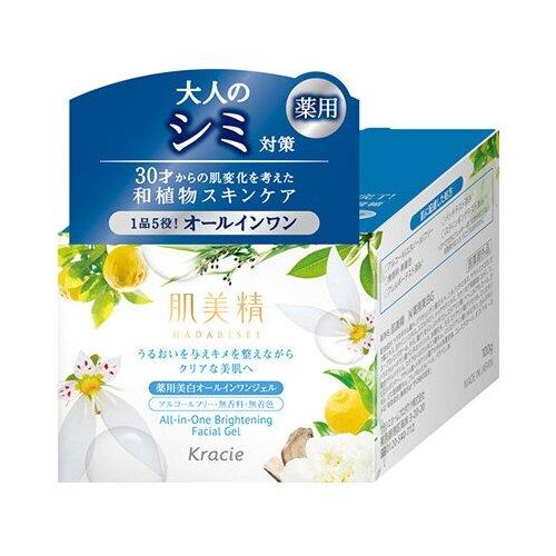 Купить KRACIE Hadabisei Крем- гель для лица осветляющий c экстрактами японских растений 100 гр.