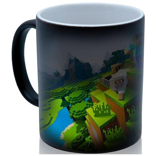 Кружка хамелеон по мотивам игры Майнкрафт (Minecraft), персонажи, прикольный подарок
