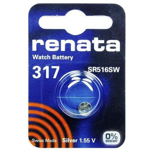 Фото - Батарейка R317 - Renata SR516SW (1 штука) батарейка renata r 317 sr516sw 1 шт
