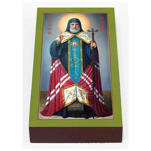 Святитель Митрофан, епископ Воронежский, печать на доске 7*13 см