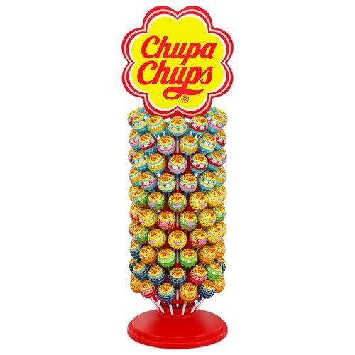 карамель chupa chups xxl flavors playlist ассорти 60 шт Карамель Chupa Chups Круглый дисплей, ассорти, 1440 г 120 шт.