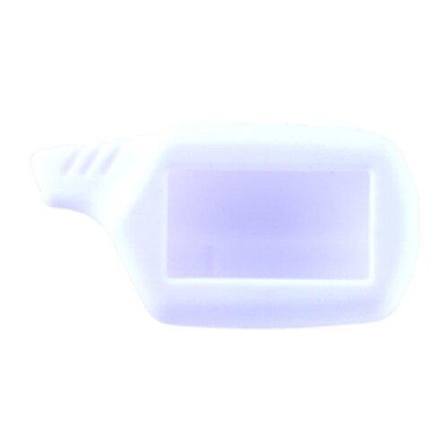 Чехол силиконовый Старлайн подходит для брелока ( пульта ) автосигнализации Starline B6 / B9 / A61 / A91 (Цвет белый)