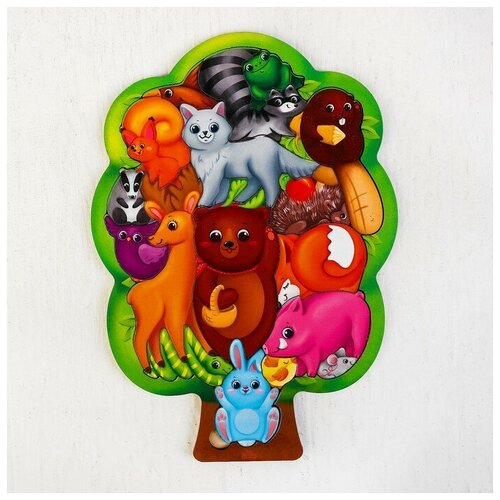 Купить Лесная мастерская Головоломка Лесные животные , размер 28*20 см, головоломка логическая, Пазлы