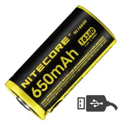 Фото - Аккумулятор CR123 - Nitecore NL1665R Li-Ion 650mAh 17041 аккумулятор nitecore nl1665r