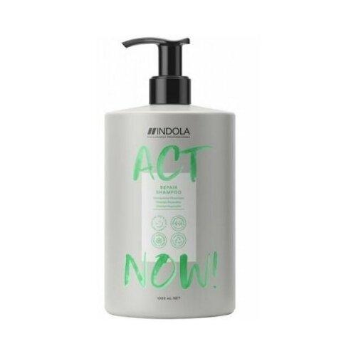 Фото - Indola professional act now repair shampoo шампунь для восстановления волос 1000 мл шампунь для восстановления поврежденных волос indola innova repair shampoo 300 мл