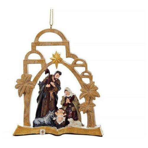 Фото - Ёлочная игрушка рождественская книга, полистоун, 11.4 см, Kurts Adler ёлочная игрушка кошечка делфтский фарфор 10 см разные модели kurts adler j0936