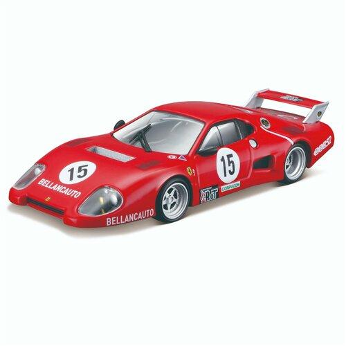 Bburago Коллекционная машинка Феррари 1:43 Ferrari Racing - 512 BB II serie 1981, красная