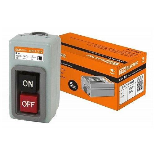 Выключатель кнопочный с блокировкой ВКН-310 3Р 10А 230/400В IP40 TDM, цена за 1 шт