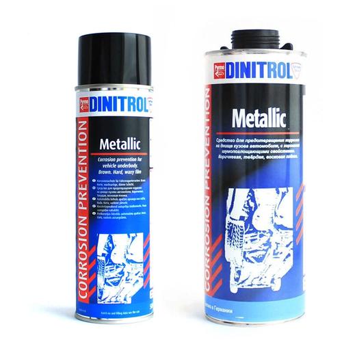 Автомобильная антикоррозийная мастика для днища, Dinitrol Metallic, 1050мл