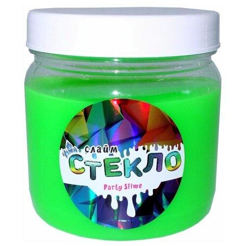 Слайм Стекло серия Party Slime, зеленый неон, 400 гр, Слайм Стекло