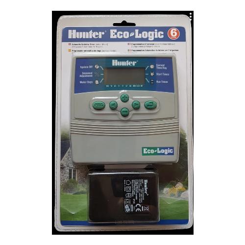 Контроллер управления поливом Hunter Eco-Logic-601i-E, на 6 зон