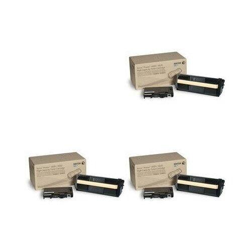 Xerox 106R01536-3PK Картриджи комплектом черный 3 упаковки, повышенной емкости [выгода 2%] Black 90К для Phaser 4600, 4620V 4620, 4622A 4622, 4622DN