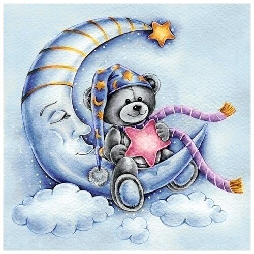 Купить Алмазная вышивка «Сладкие сны», 40x40 см, Гранни, Алмазная мозаика