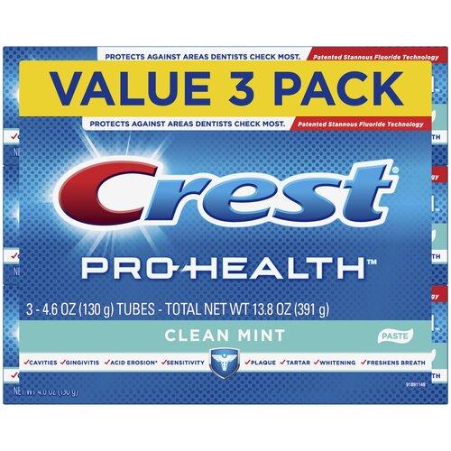 Crest Pro-Health Clean Mint – Набор из 3 зубных паст
