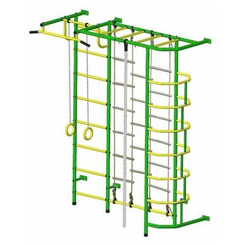 Детский спортивный комплекс Пионер С5Л зелёно/жёлтый