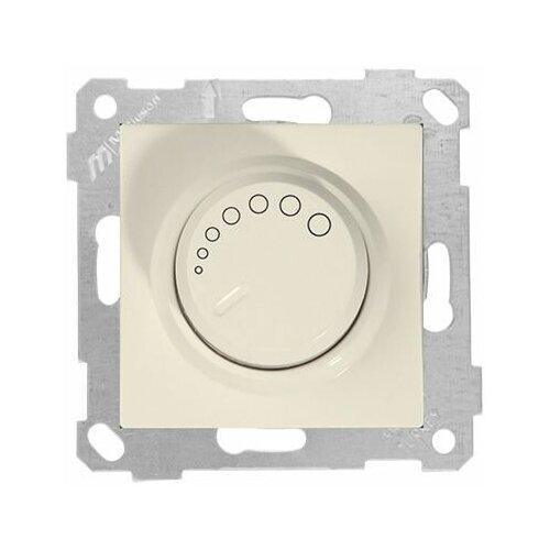 Выключатель поворотный (диммер) (скрытый, без рамки, винт. зажим, 600Вт) кремовый, RITA, MUTLUSAN (220VAC, 60 - 600VA, 50 Hz, IP20) (2200 440 0202)