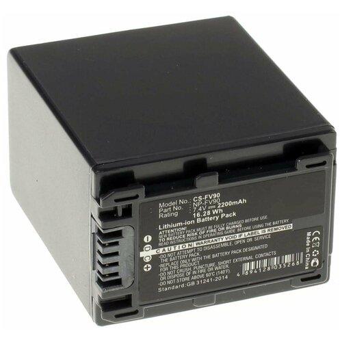 Фото - Аккумулятор iBatt iB-U1-F300 2200mAh для Sony PXW-X70, HDR-CX250E, HDR-CX110E, HDR-CX360E, HDR-CX550E, HDR-CX130E, DCR-SX44E, HDR-CX200E, HDR-XR550E, HDR-CX190E, DCR-SX44, HDR-CX580E, HDR-CX280E, HDR-CX400E, экшн камера sony hdr as50r черный