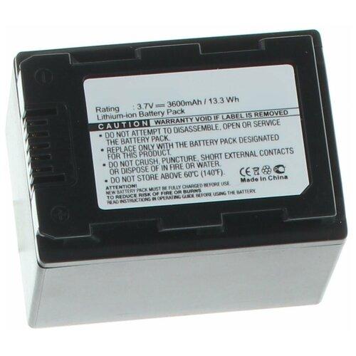 Аккумулятор iBatt iB-U1-F397 3600mAh для Samsung HMX-H200, HMX-S15, SMX-F40, HMX-H205, HMX-S10, SMX-F44, HMX-S16, HMX-H203, HMX-H204, SMX-F43,