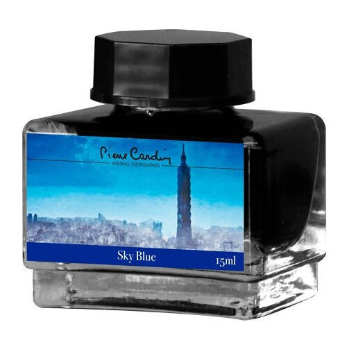Флакон чернил Pierre Cardin 15мл, серия CITY FANTASY цвет Sky Blue (Синий Небесный)