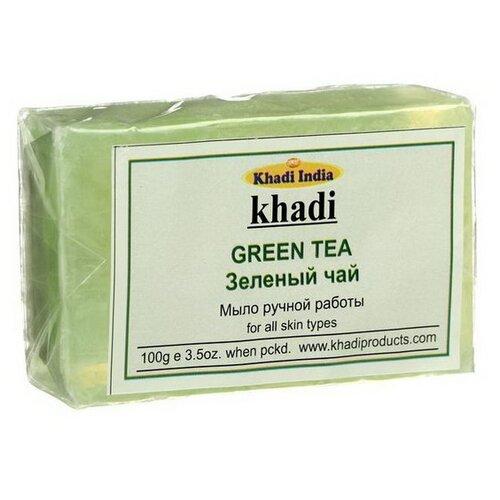 Мыло кусковое Khadi Green tea, 100 г