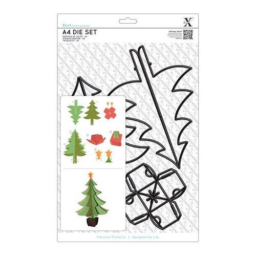 Набор ножей для вырубки Новогодняя ёлка А4 (21,0 х 29,7 см) 5 шт