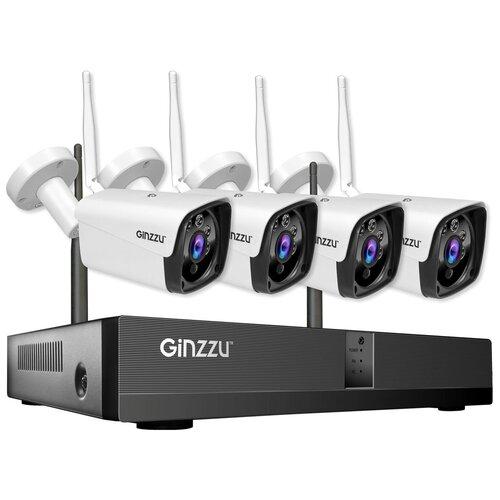 Комплект видеонаблюдения Ginzzu HK-8401W 4 камеры