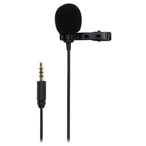Микрофон JMARY MC-R1, петличный, Jack 3.5mm, 2 м, черный