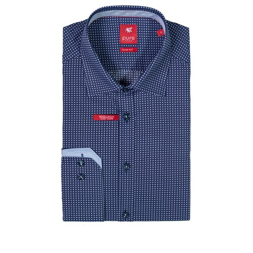 Рубашка pure размер S темно-синий/голубой