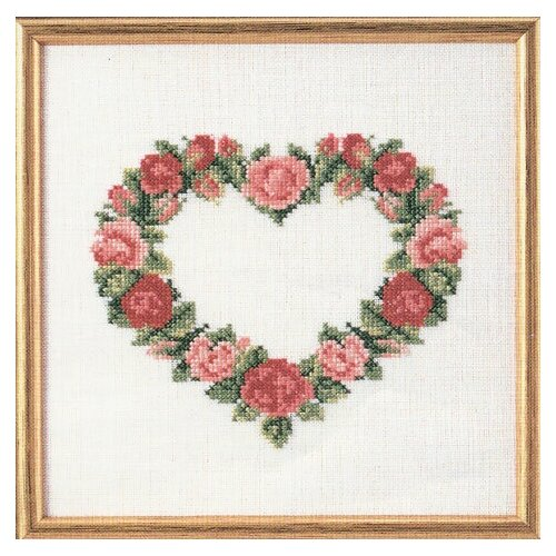 Набор для вышивания Сердце из красных роз OEHLENSCHLAGER 73-65177