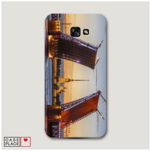 Чехол Пластиковый Samsung Galaxy A7 2017 Разведенные мосты в СПб 1