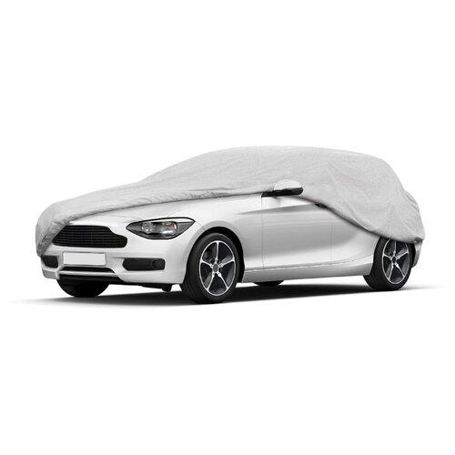 "Чехол-тент на автомобиль AutoStandart ""HATCHBACK"", размер M (410х170х140см), цвет: серебристый"
