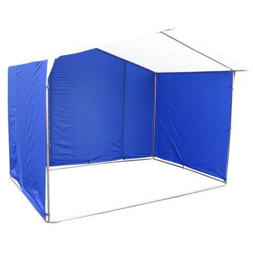 Фото - Палатка торговая Митек Домик 3.0х1.9 (бело-синий) палатка митек нельма 1