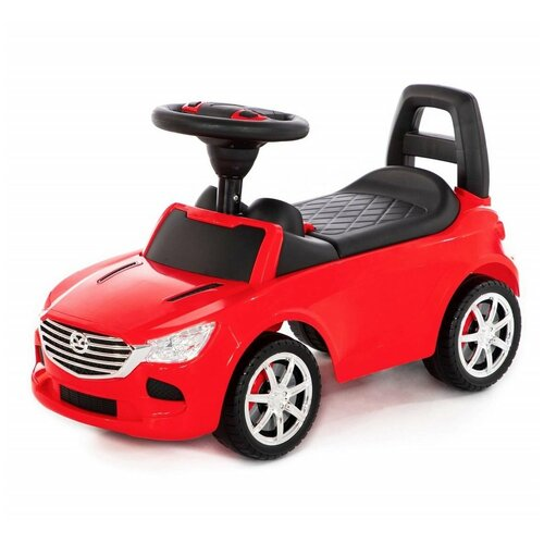 Каталка-автомобиль SuperCar №4 со звуковым сигналом (красная) Полесье 84507 недорого