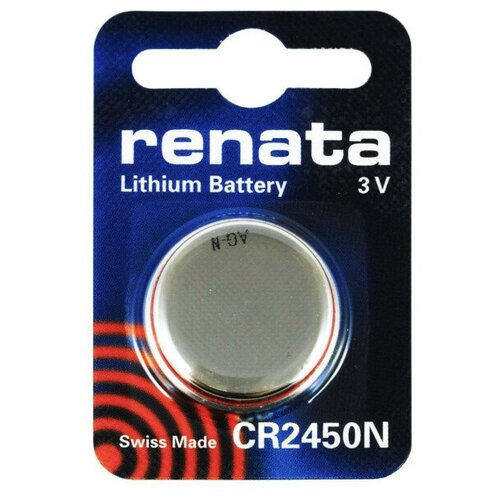 Фото - Батарейка CR2450N - Renata (1 штука) батарейка cr1620 renata 1 штука