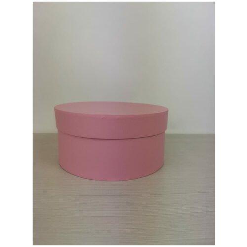 Коробка подарочная круглая 20 х 10 см, нежно-розовая, для цветов и подарков. коробка фирменная для упаковки подарков с кофе 25 х 27 х 10 5 см