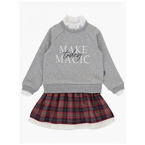 Купить Платье Mini Maxi размер 110, серый/красный, Платья и сарафаны