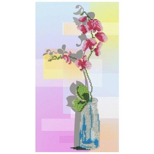 Орхидея набор габардин+бисер 32х18 МП-Студия БГ-180 32х18 МП-Студия БГ-180