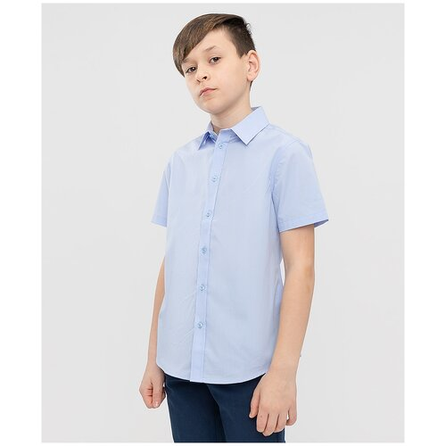 Рубашка Button Blue размер 170, голубой