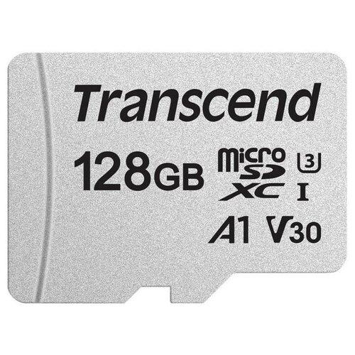 Фото - Карта памяти Transcend 300S microSDXC 128Gb UHS-I Cl10 +ад, TS128GUSD300S-A карта памяти sdhc 32gb transcend class10 uhs i