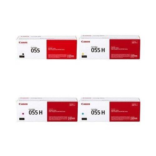 Фото - Canon 3017C002-3018C002-3019C002-3016C002 Картриджи комплектом Cartridge 055HY, 055HM, 055HC, 055 BK полный набор повышенной емкости CMYK:5.9K, BK:2.3K стр. [выгода 3%] для i-SENSYS LBP663Cdw LBP663, MF742Cdw MF742, MF744Cdw MF744, MF746Cx MF746, LBP664Cx LBP664 картридж лазерный canon 055hm для lbp663 664 mf742 744 746 пурпурный оригинальный ресурс 5900 страниц 3018c002