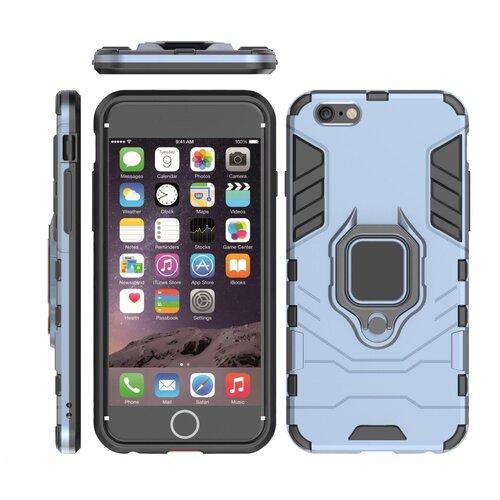 Чехол-бампер MyPads для iPhone 6/ 6S 4.7 (Айфон 6 / 6С) противоударный усиленный ударопрочный серый