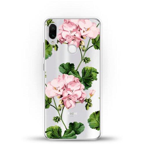 Фото - Силиконовый чехол Розовые цветы на Xiaomi Redmi Note 7 ультратонкий силиконовый чехол накладка для xiaomi redmi 7 с принтом нежные цветы