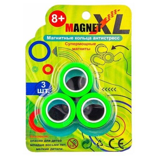 Купить Спиннер Магнитные кольца антистресс MagnetXL MRing-Green, зеленые, Игрушки-антистресс
