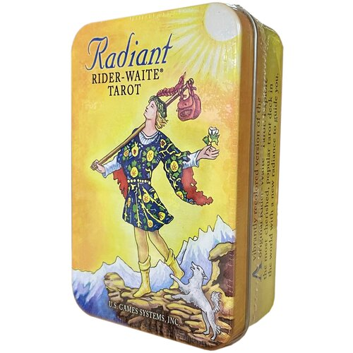 Таро Радиант-Уэйт мини Radiant Rider-Waite Tarot deck Tin/мини в жестяной коробочке