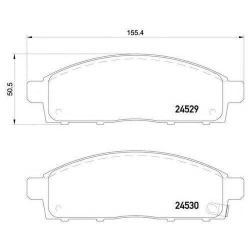 Фото - Дисковые тормозные колодки передние Textar 2452901 для Mitsubishi L200, Mitsubishi Pajero Sport, Fiat Fullback (4 шт.) дисковые тормозные колодки передние trw gdb3435 для mitsubishi pajero sport mitsubishi montero mitsubishi l200 4 шт