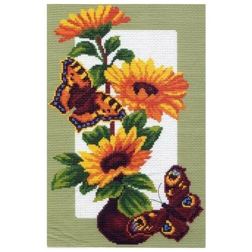 Подсолнухи и бабочки Набор для вышивания крестом 28х37 (20х30) Матренин Посад 0473/Н 28х37 (20х30) Матренин Посад 0473/Н)