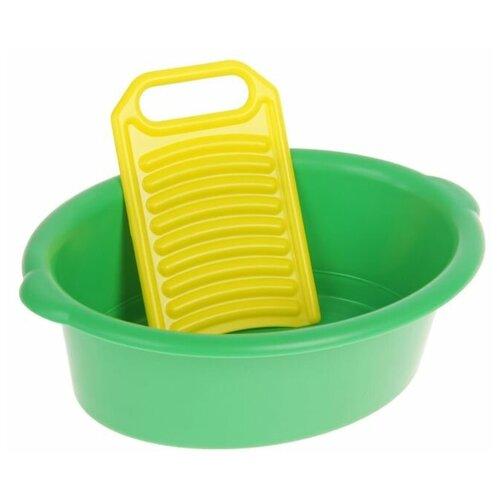 Совтехстром Игровой набор «Золушка», тазик, стиральная доска, микс
