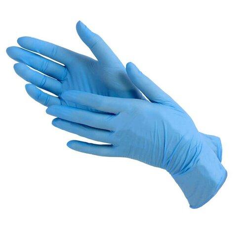Фото - Нитриловые одноразовые перчатки Wally Plastic нестерильные, неопудренные, размер XL, 100 шт (50 пар), синего цвета перчатки одноразовые нитриловые черные wally plastic размер m 100 шт 50 пар