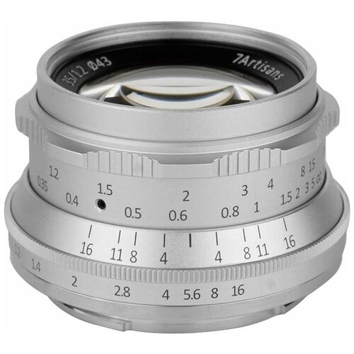 Фото - Объектив 7artisans 35mm F1.2 Canon M, серебряный объектив 7artisans 18mm f6 3 canon eos m mount