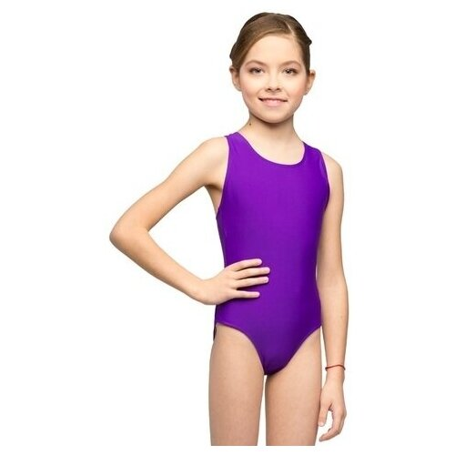 Купальник для плавания детский слитный К 48-011-50008 38 Фиолетовый купальник слитный speedo boom alov msbk af цвет фиолетовый фуксия 8 10818c265 c265 размер 38 50 52